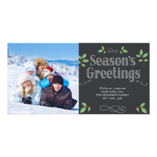 Season's Greetings Customised Photo Card