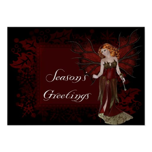 Season's Greetings Dark Fairy - Fantasy Print