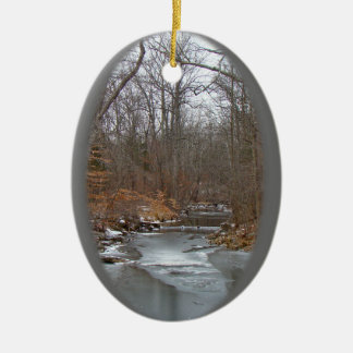 Season's Greetings Deep Creek in Ice Christmas Ornament