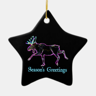 Season's Greetings - Electric Moose Christmas Ornament