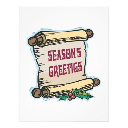 Seasons Greetings Flyer