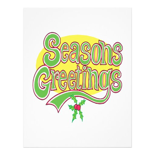 Seasons Greetings Custom Flyer