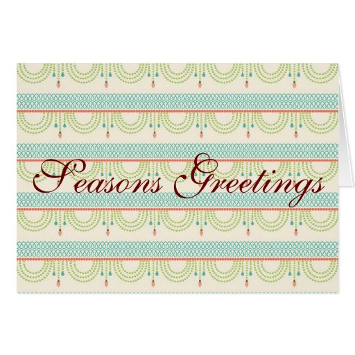 Seasons Greetings Folded Christmas Cards