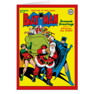 Season's Greetings From Batman And Robin Greeting Card
