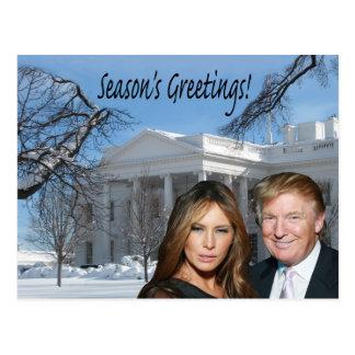 Season's Greetings from Donald and Melania Postcard