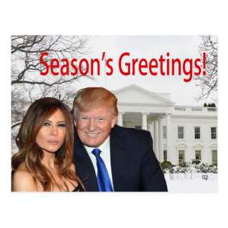 Season's Greetings from Donald and Melania Postcard
