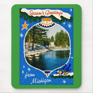 Seasons Greetings from Michigan Mouse Pad