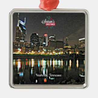 Season's Greetings from Nashville, Tennessee Christmas Ornament