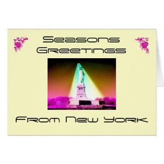 Seasons Greetings, From New York, Card