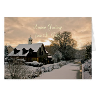 Seasons Greetings from St. Johns Greeting Card