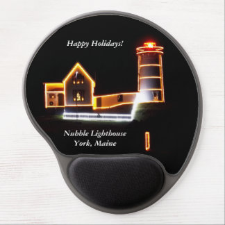 Seasons Greetings From The Nubble Lighthouse Gel Mouse Pad