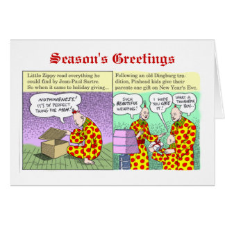Season's Greetings from Zippy Greeting Card