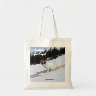 Season's Greetings Fun Cat Tote bag