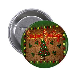 Seasons Greetings Gingerbread II Buttons