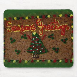 Seasons Greetings Gingerbread II Mouse Pad