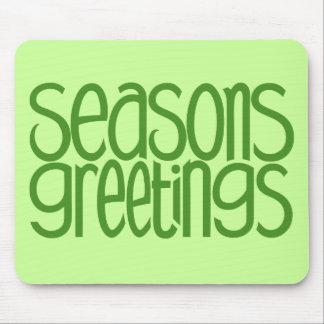 Seasons Greetings Green Mousepad