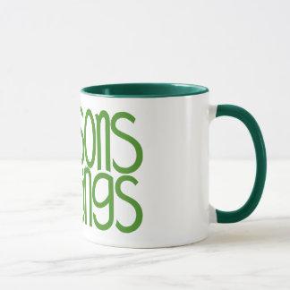 Seasons Greetings Green Mug