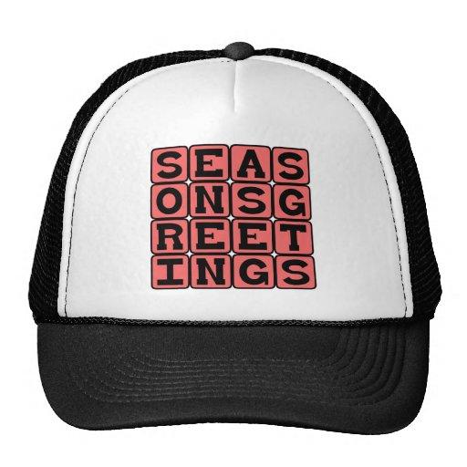 Seasons Greetings, Holiday Cheer Mesh Hat