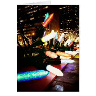 Season's Greetings - Holiday Light Decorations Card