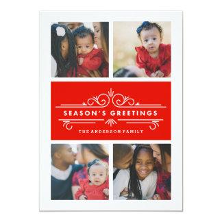 Season's Greetings | Holiday Photo Card 13 Cm X 18 Cm Invitation Card