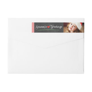 Season's Greetings Holiday Photo | Wrap Around Label