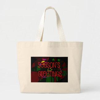 seasons greetings II Canvas Bags