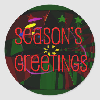 seasons greetings II Round Sticker