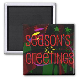 seasons greetings II Square Magnet