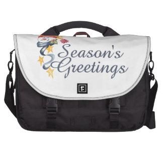 Season's Greetings Laptop Commuter Bag
