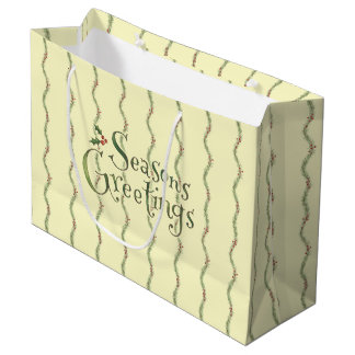 Seasons Greetings Large Gift Bag