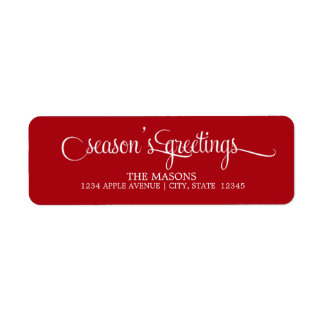 Season's Greetings Lowercase Script | Red
