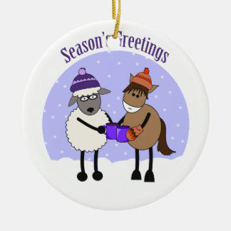 SEASON'S GREETINGS MIC MAC CHRISTMAS ORNAMENT