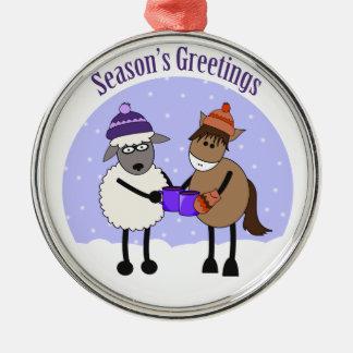 SEASON'S GREETINGS MIC MAC CHRISTMAS ORNAMENT