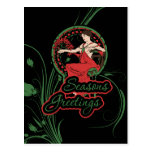 Seasons Greetings Mucha Art Post Card