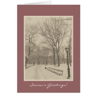 Season's Greetings - New York Central Park Card
