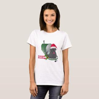 Seasons Greetings Newfoundland Dog T-Shirt