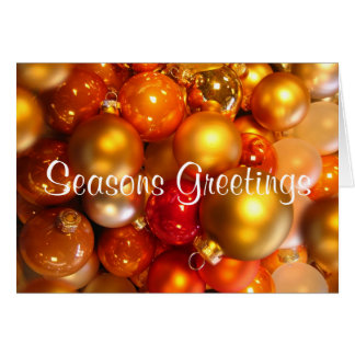 Seasons Greetings Ornaments Folded Christmas Cards