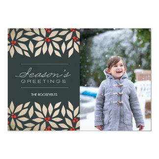 Season's Greetings Paper Holiday Card