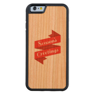 Seasons Greetings (phone case) Cherry iPhone 6 Bumper Case