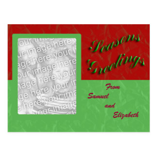 Seasons Greetings Photo Frame Postcard
