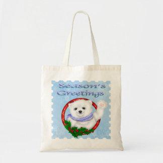 Season's Greetings Polar Bear Bags