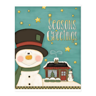 Season's Greetings Post Card