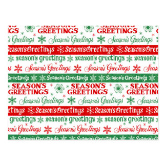 Seasons Greetings Postcard