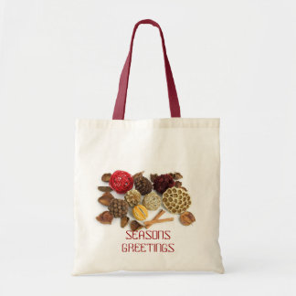 Seasons Greetings Potpourri Canvas Bags