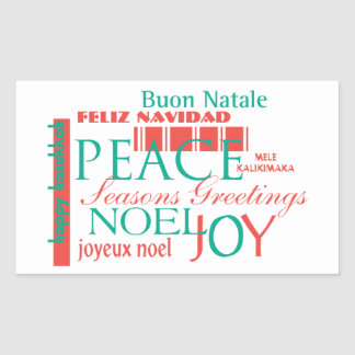 Seasons Greetings Rectangular Sticker