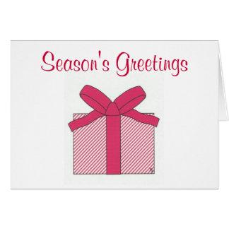 season's greetings red gift card