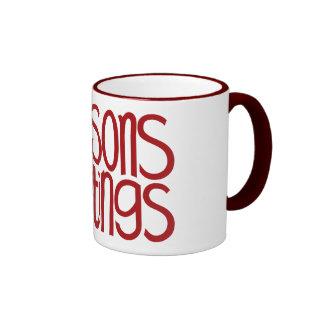 Seasons Greetings Red Mug