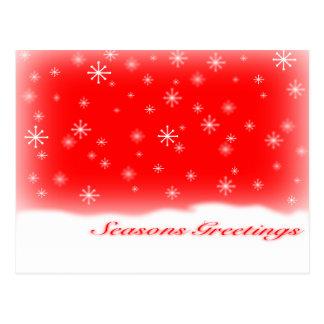 seasons greetings RED.svg Postcard