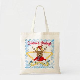 Season's Greetings Reindeer Bags