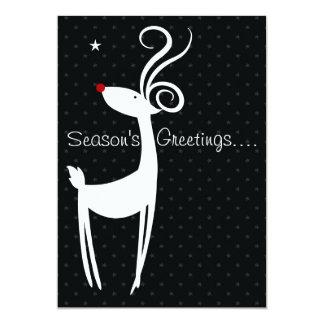 Season's Greetings Reindeer Party Invitation